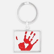 Bloody Hand Print Landscape Keychain
