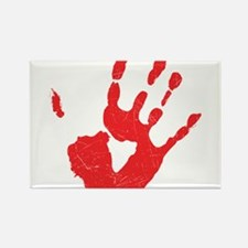 Bloody Hand Print Rectangle Magnet
