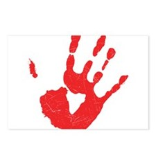 Bloody Hand Print Postcards (Package of 8)