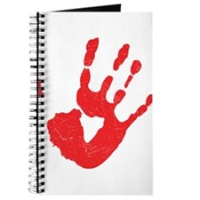 Bloody Hand Print Journal