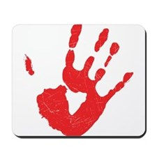 Bloody Hand Print Mousepad