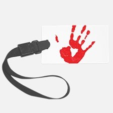 Bloody Hand Print Luggage Tag
