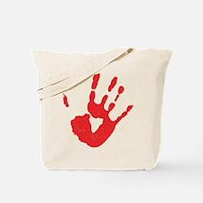 Bloody Hand Print Tote Bag