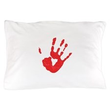 Bloody Hand Print Pillow Case