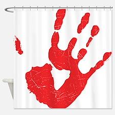 Bloody Hand Print Shower Curtain