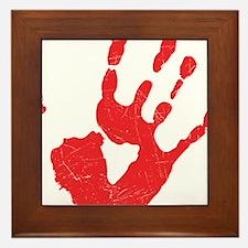 Bloody Hand Print Framed Tile