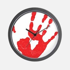 Bloody Hand Print Wall Clock
