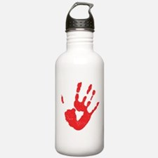 Bloody Hand Print Water Bottle