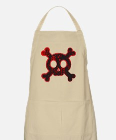 Bloody Skull and Bones Apron