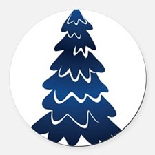 Christmas Tree Round Car Magnet