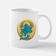 Sleeping Turquoise Dragon Mug