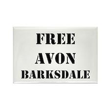 """Free Avon Barksdale"" Rectangle Magnet"