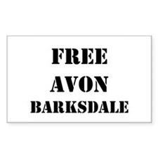"""Free Avon Barksdale"" Rectangle Decal"