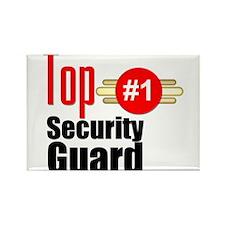 Top Security Guard Rectangle Magnet