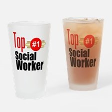 Top Social Worker Drinking Glass