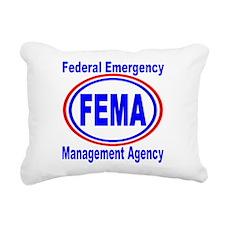 FEMA Rectangular Canvas Pillow