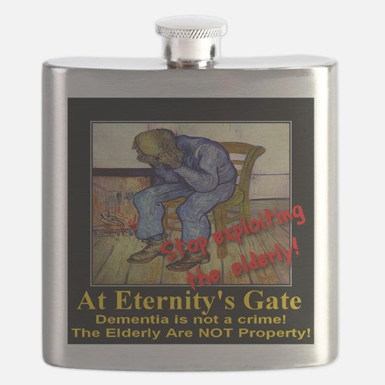 At Eternitys Gate Poster Flask