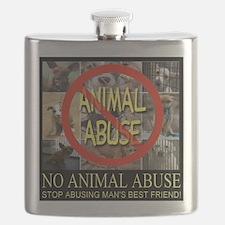 No Animal Abuse Flask