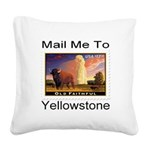 mailmeto_yellowstone.png Square Canvas Pillow
