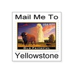 mailmeto_yellowstone.png Square Sticker 3