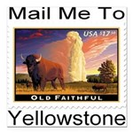 mailmeto_yellowstone.png Square Car Magnet 3