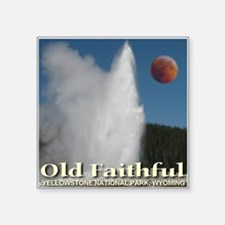 "old_faithful_redmoon.png Square Sticker 3"" x 3"""