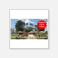"""art_boost_the_economy.png Square Sticker 3"""" x 3"""""""