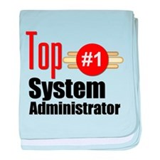 Top Systems Administrator baby blanket