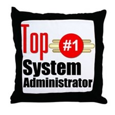 Top Systems Administrator Throw Pillow