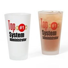 Top Systems Administrator Drinking Glass