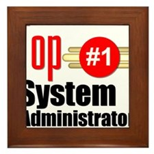 Top Systems Administrator Framed Tile