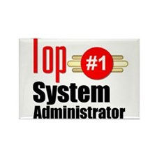 Top Systems Administrator Rectangle Magnet