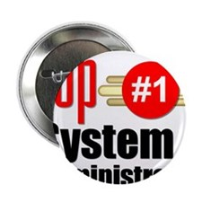 "Top Systems Administrator 2.25"" Button"