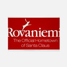 Rovaniemi, home of Santa Rectangle Magnet