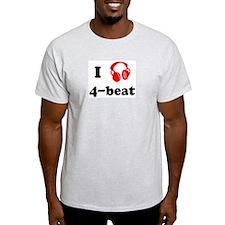 4-beat music Ash Grey T-Shirt