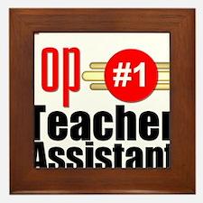 Top Teacher Assistant Framed Tile
