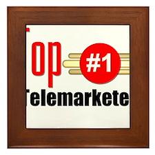 Top Telemarketer Framed Tile