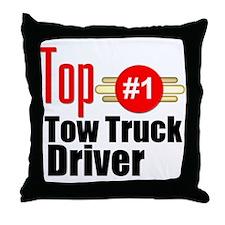 Top Tow Truck Driver Throw Pillow
