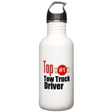 Top Tow Truck Driver Water Bottle
