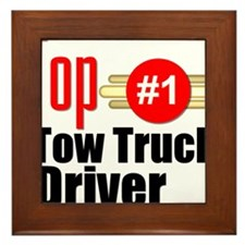 Top Tow Truck Driver Framed Tile