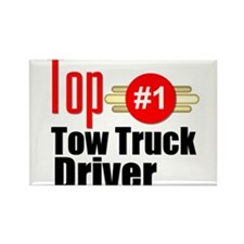 Top Tow Truck Driver Rectangle Magnet