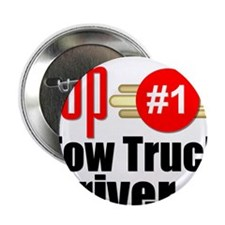 "Top Tow Truck Driver 2.25"" Button"