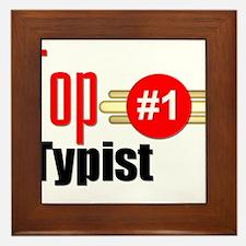 Top Typist Framed Tile