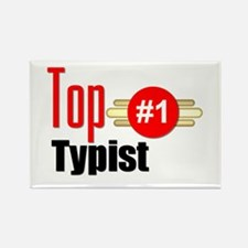 Top Typist Rectangle Magnet