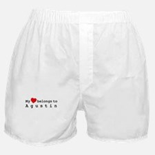 My Heart Belongs To Agustin Boxer Shorts