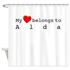 My Heart Belongs To Alda Shower Curtain