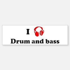 Drum and bass music Bumper Bumper Bumper Sticker