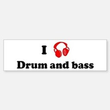 Drum and bass music Bumper Car Car Sticker