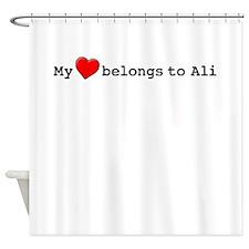 My Heart Belongs To Ali Shower Curtain