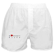 My Heart Belongs To Alina Boxer Shorts